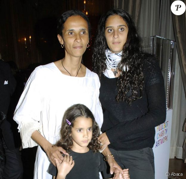 Karine Silla, Roxane Depardieu et Iman (fille eue avec son actuel mari Vincent Perez), en 2006.