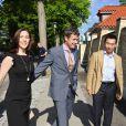 Le prince Frederik et la princesse Mary de Danemark étaient reçus à dîner à Hellerup par l'ambassadeur James Choi, le 30 mai 2011, qui leur a remis des cadeaux pour leurs jumeaux Vincent et Josephine.