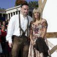 Franck Ribéry et sa femme Wahiba à Munich le 5 octobre 2008