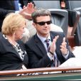 Frederik de Danemark lors du tournoi de Roland-Garros, le 31 mai 2011.