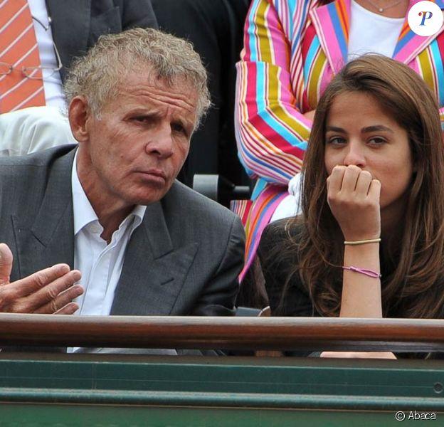 Anouchka et PPDA lors du tournoi de Roland-Garros, le mardi 31 mai 2011.