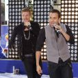 Nick Carter et Howie Dorough des NKOTBSB au  Today Show , en direct du Rockefeller Center, à New York, le 3 juin 2011.