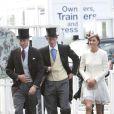 Les princes William, Harry et Kate au Derby d'Epsom, le 4 juin 2011.