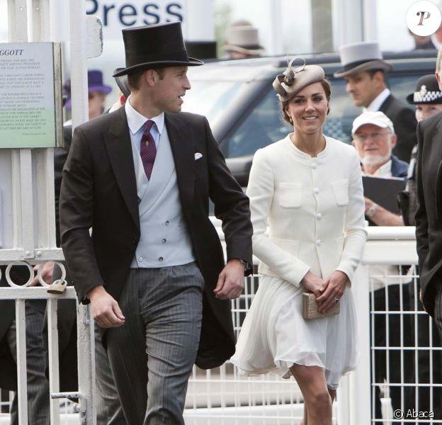 Le prince William et Kate très élégants au Derby d'Epsom, le 4 juin 2011.