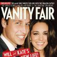 William et Kate en couverture de  Vanity Fair , juillet 2011.