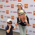 Julie Bowen et ses fils lors du 5e festival annuel Kidstock Music and Arts à Beverly Hills le 5 juin 2011