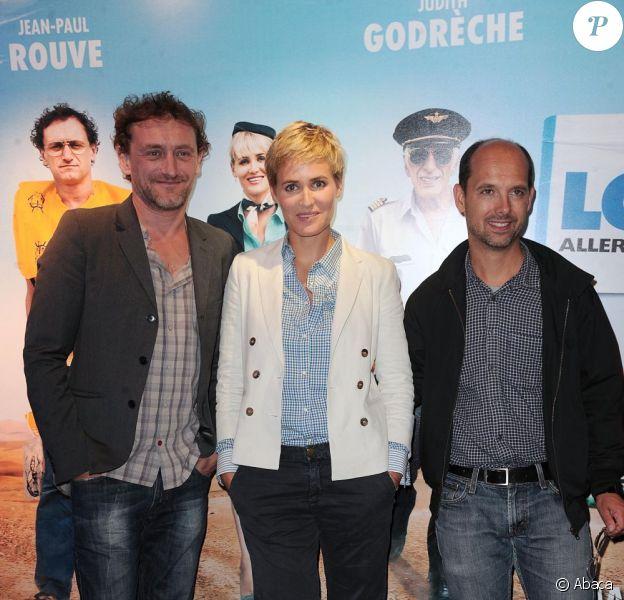 Jean-Paul Rouve, Judith Godrèche et Maurice Barthélémy à l'occasion de l'avant-première de Low Cost, à l'UGC Ciné-Cité de Bercy, à Paris, le 7 juin 2011.