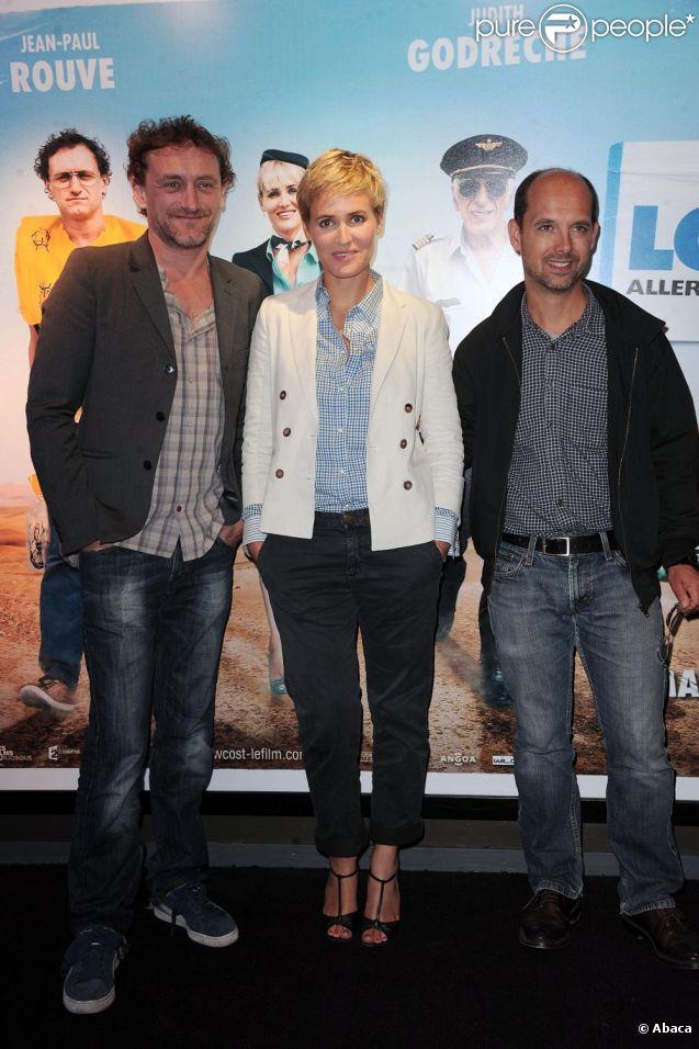 Jean-Paul Rouve, Judith Godrèche et Maurice Barthélémy à l'occasion de l'avant-première de  Low Cost , à l'UGC Ciné-Cité de Bercy, à Paris, le 7 juin 2011.