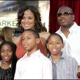 Laila Ali, Curtis Conway, et ses enfants, en juin 2007.
