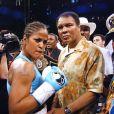 Laila Ali et son père, le célèbre boxer Mohamed en juin 2005.