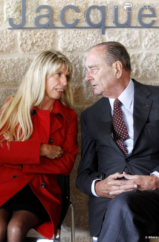 Jacques Chirac et Sophie Dessus en Corrèze le 11 juin