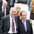 Jacques Chirac et François Hollande