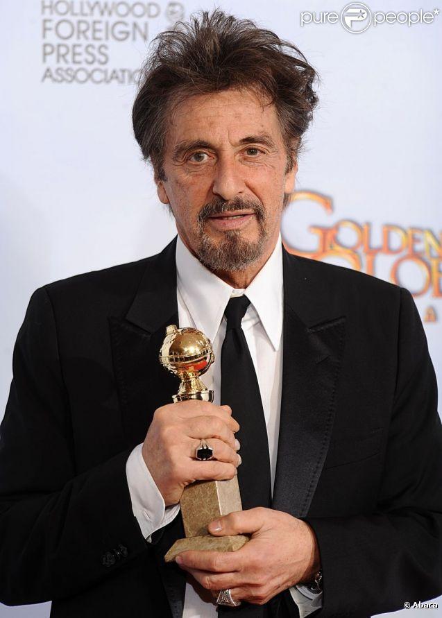 Al Pacino aux Golden Globe Awards, à Los Angeles, en janvier 2011.