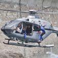 Pierre Frolla saute d'un hélicoptère lors de l'Opération Poséidon, le 27 mai 2011, à Monaco.