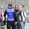 Pierre et Andrea Casiraghi assistent de très près à l'Opération Poséidon, le 27 mai 2011, à Monaco. Le prince Albert est de la partie !