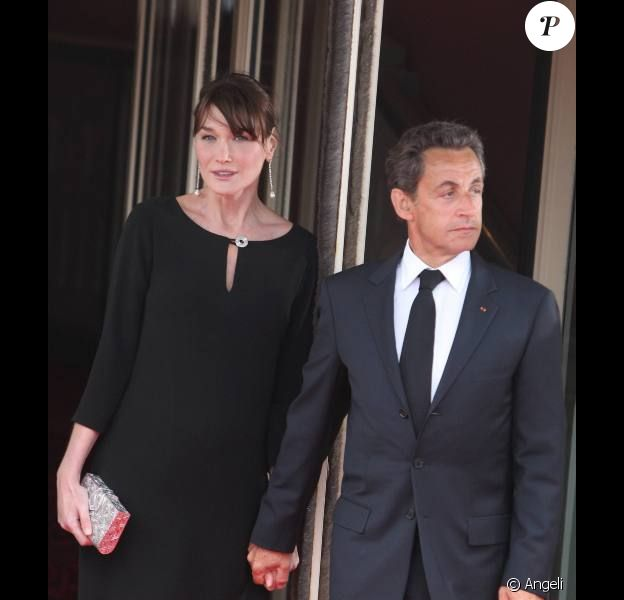 Carla et Nicolas Sarkozy lors du sommet du G8 à Deauville en mai 2011