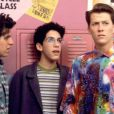 Parker Lewis et ses immondes chemises avec ses deux meilleurs amis : le beau gosse Mikey et l'intello Jerry Steiner dans Parker Lewis Ne Perd Jamais.