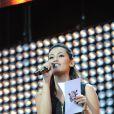 Karima Charni lors du concert M6 Mobile Music Live à Issy-Les-Moulineaux le 18 juin 2011