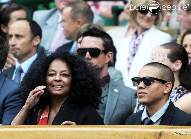 Wimbledon 2011, première semaine : Diana Ross était présente avec son fils Evan.