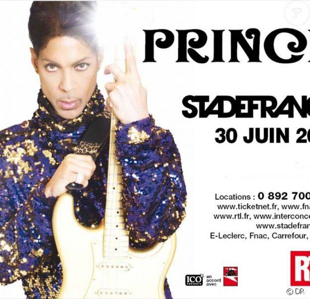 Prince au Stade de France, le 30 juin 2011.