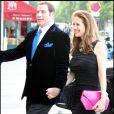 John Travolta et sa femme Kelly Preston, très élégants pour un dîner en tête à tête au restaurant La Tour d'argent à Paris le 21 juin 2011