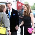 John Travolta et sa femme Kelly Preston vont dîner au restaurant La Tour d'argent à Paris le 21 juin 2011