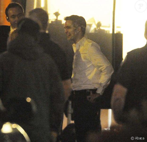 Robert Pattinson sur le tournage du film Cosmopolis à Toronto au Canada le 29 juin 2011