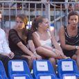 Louis et Pauline Ducruet et Camille Gottlieb avec leur maman Stéphanie de Monaco lors du concert évènement de Jean-Michel Jarre donné en l'honneur du mariage du Prince Albert avec Charlene Wittstock, le 1er juillet 2011 à Monaco