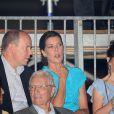 Albert de Monaco et sa soeur Caroline de Hanovre assistent au concert exceptionnel de Jean-Michel Jarre donné à l'occasion du mariage du Prince avec Charlene Wittstock, le 1er juillet 2011