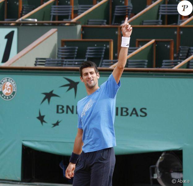 Novak Djokovic, à Roland-Garros (Paris), en mai 2009.