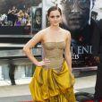 Emma Watson à l'avant-première new-yorkaise de  Harry Potter et les reliques de la mort - partie 2 , le 11 juillet 2011.