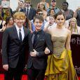 Daniel Radcliffe, Emma Watson et Rupert Grint à l'avant-première new-yorkaise de  Harry Potter et les reliques de la mort - partie 2 , le 11 juillet 2011.