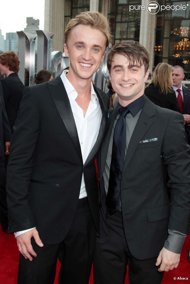 Daniel Radcliffe et Tom Felton à l'avant-première new-yorkaise de ... руперт гринт