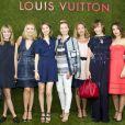 Alexandra Golovanoff, Sofia Coppola, Milla Jovovich et Elodie Bouchez, une belle brochette de VIP lors de la présentation de la collection Croisière Louis Vuitton à Paris. Le 5 juillet 2011