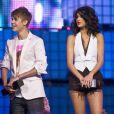 Justin Bieber et Selena Gomez, lors des Much Music Awards 2011, en juin 2011 à Los Angeles.