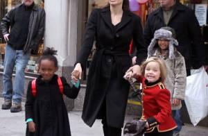 Angelina Jolie : Journée shopping avec Zahara et Shiloh, toujours casse-cou