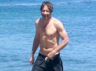 David Duchovny : A la plage avec ses enfants, il s'amuse comme un petit fou