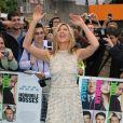 Jennifer Aniston, délicieusement charmante, lors de l'avant-première à Londres de Comment tuer son boss ? le 20 juillet 2011