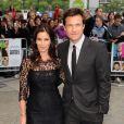 Jason Bateman et sa femme Amanda Anka lors de l'avant-première à Londres de Comment tuer son boss ? le 20 juillet 2011