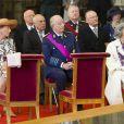 Le roi Albert de Belgique, avec la reine Paola et la reine Fabiola, était à la cathédrale Saints Michel-et-Gudule de Bruxelles dans la matinée du 21 juillet 2011, pour la Fête nationale belge.