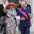 Le roi Albert de Belgique, la reine Paola et la reine Fabiola à la cathédrale Saints Michel-et-Gudule le 21 juillet 2011 pour les Te Deum de la Fête nationale.
