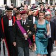 La princesse Mathilde et le prince Philippe de Belgique assistaient à la messe de la Fête Nationale, le 21 juillet 2011 au matin, à Louvain.
