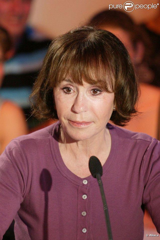 Danièle Evenou, sur le tournage d'une émission télé en 2008.