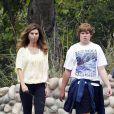 Maria Shriver et son fils Christopher, à Los Angeles, le 11 juin 2011.