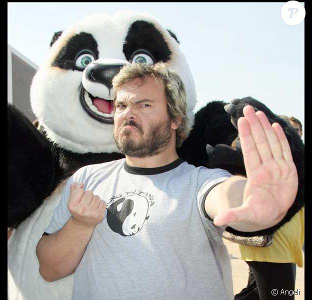 Jack Black lors du photocall pour Kung-Fu Panda