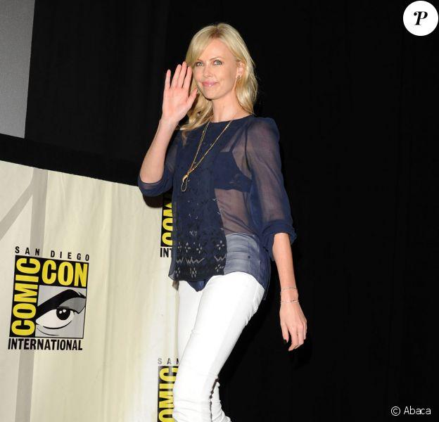 Charlize Theron lors du Comic-Con le 23 juillet 2011 à San Diego aux Etats-Unis