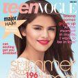 Selena Gomez, d'ordinaire plus habituée aux couvertures de magazines pour ados, change de registre.  Teen Vogue , juillet 2011.