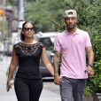 Alicia Keys et son mari Swizz Beatz à New York le 7 juillet 2011