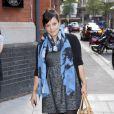 Lily Allen, future maman, arrive à une exposition organisée par Reebok et Wallpaper Magazine, le 28 juillet, à Londres.