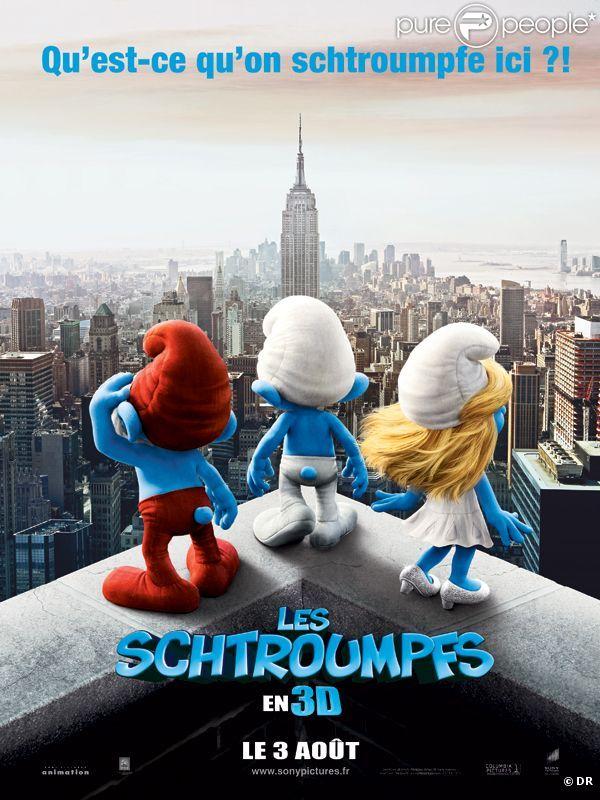 Les singes au sommet suivis par les petits hommes bleues... 671970-l-affiche-du-film-les-schtroumpfs-637x0-3